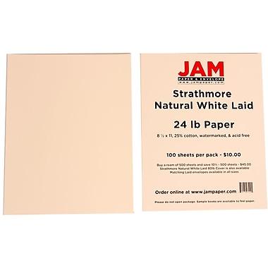 Jam PaperMD – Papier vergé Strathmore, 8 1/2 x 11 po, blanc naturel