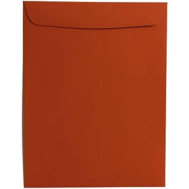 JAM Paper® 10 x 13 Open End Catalog Envelopes, Dark Orange, 100/Pack (31287540)