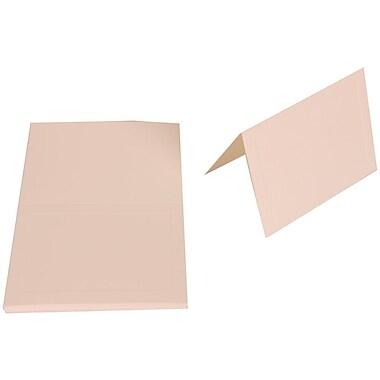 JAM Paper® Blank Foldover Cards, 4bar / A1 size, 3.5 x 4.88, 80lb Bright White Wove Panel, 50/Pack (1745714g)