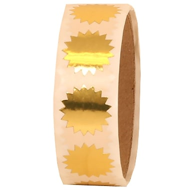 JAM Paper® 3/4in. Circle Label Wafer Seals w/Serrated Edges, Gold, 100/Pack