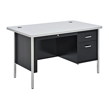 Sandusky® 48in. x 30in. Single Pedestal Steel Teachers Desks