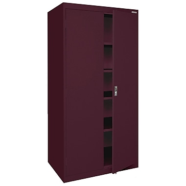 Sandusky® Elite 78in. x 36in. x 24in. Storage Cabinet With Adjustable Shelves, Burgundy