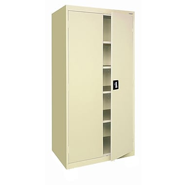 Sandusky® Elite 78in. x 36in. x 24in. Storage Cabinet With Adjustable Shelves, Putty