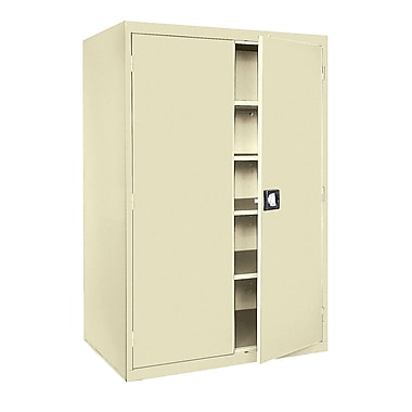 Sandusky® Elite 78in. x 46in. x 24in. Storage Cabinet With Adjustable Shelves, Putty