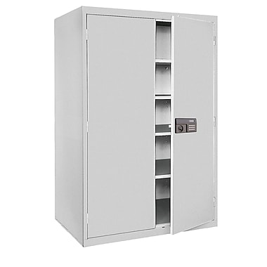 Sandusky® Elite 78in. x 46in. x 24in. Keyless Electronic Welded Storage Cabinet, Dove Gray
