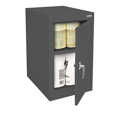 Sandusky® Elite 18in. x 24in. x 30in. Desk Height Cabinet With Adjustable Shelves, Charcoal