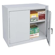 "Sandusky® Elite 36"" x 18"" x 30"" Desk Height Cabinet With Adjustable Shelves, Dove Gray"