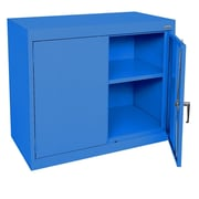 "Sandusky® Elite 36"" x 18"" x 30"" Desk Height Cabinet With Adjustable Shelves, Blue"
