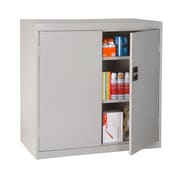 "Sandusky® Elite 46"" x 24"" x 42"" Counter Height Cabinet With Adjustable Shelves, Dove Gray"