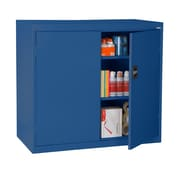 "Sandusky® Elite 46"" x 24"" x 42"" Counter Height Cabinet With Adjustable Shelves, Blue"