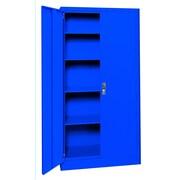 Sandusky® Elite 36 x 18 x 72 Radius Edge Storage Cabinet, Blue