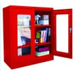 Sandusky® Elite 36in. x 18in. x 42in. Radius Edge Clearview Storage Cabinet, Red