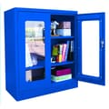 Sandusky® Elite 36in. x 18in. x 42in. Radius Edge Clearview Storage Cabinet, Blue
