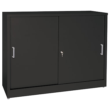 Sandusky® Elite 36in. x 18in. x 29in. Counter Height Sliding Door Storage Cabinets