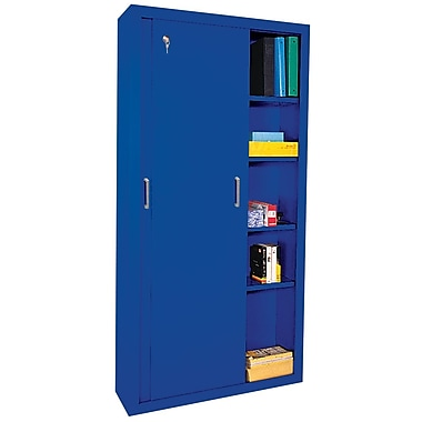 Sandusky® Elite 72in. x 36in. x 12in. Sliding Door Storage Cabinet, Blue