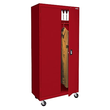 Sandusky® Elite 78in. x 36in. x 24in. Transport Mobile Wardrobe Cabinet, Red