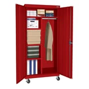 "Sandusky® Elite 66"" x 36"" x 24"" Transport Mobile Combination Cabinet, Red"