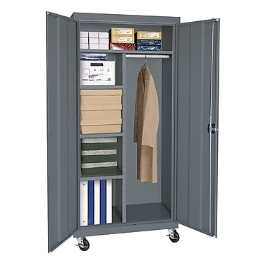 Sandusky® Elite 66in. x 36in. x 24in. Transport Mobile Combination Cabinet, Charcoal