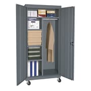 "Sandusky® Elite 66"" x 36"" x 24"" Transport Mobile Combination Cabinet, Charcoal"