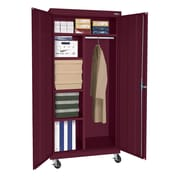 Sandusky® Elite 66 x 36 x 24 Transport Mobile Combination Cabinet, Burgundy