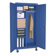 "Sandusky® Elite 66"" x 36"" x 24"" Transport Mobile Combination Cabinet, Blue"