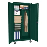 "Sandusky® Elite 66"" x 36"" x 24"" Transport Mobile Combination Cabinet, Forest Green"