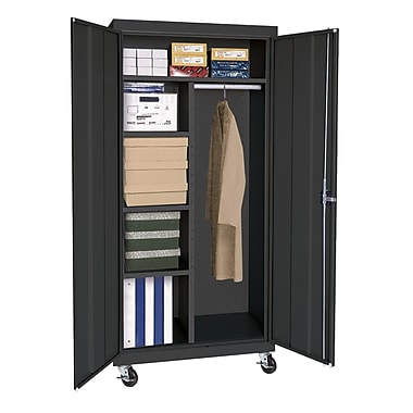 Sandusky® Elite 66in. x 36in. x 24in. Transport Mobile Combination Cabinet, Black