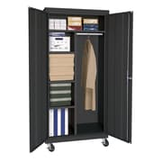 Sandusky® Elite 66 x 36 x 24 Transport Mobile Combination Cabinet, Black