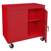 "Sandusky® Elite 36"" x 36"" x 18"" Transport Work Height Storage Cabinet, Red"