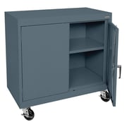 Sandusky® Elite 36 x 36 x 18 Transport Work Height Storage Cabinet, Charcoal