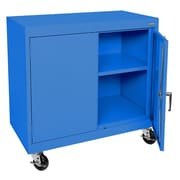 Sandusky® Elite 36 x 36 x 18 Transport Work Height Storage Cabinet, Blue