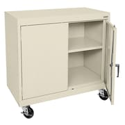 Sandusky® Elite 36 x 36 x 18 Transport Work Height Storage Cabinet, Putty