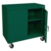 Sandusky® Elite 36 x 36 x 18 Transport Work Height Storage Cabinet, Forest Green