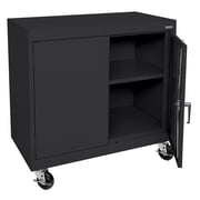 Sandusky® Elite 36 x 36 x 18 Transport Work Height Storage Cabinet, Black
