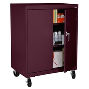 Sandusky® Elite 48 x 36 x 24 Transport Work Height Storage Cabinet, Burgundy