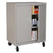 "Sandusky® Elite 48"" x 36"" x 24"" Transport Work Height Storage Cabinet, Dove Gray"