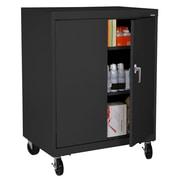 Sandusky® Elite 48 x 36 x 24 Transport Work Height Storage Cabinet, Black
