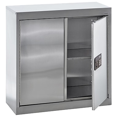 Sandusky® 30in. x 12in. x 30in. Wall Storage Cabinet With Electric Lock, Stainless Steel