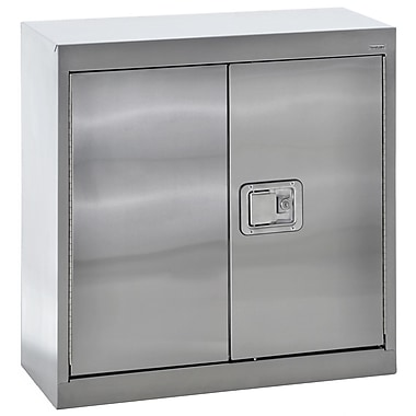 Sandusky® 30in. x 12in. x 30in. Wall Storage Cabinet With Paddle Lock, Stainless Steel