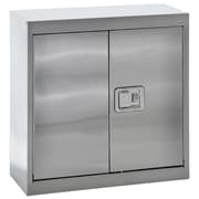 "Sandusky® 30"" x 12"" x 30"" Wall Storage Cabinet With Paddle Lock, Stainless Steel"