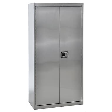 Sandusky® 36in. x 18in. x 72in. Storage Cabinet With Paddle Lock, Stainless Steel