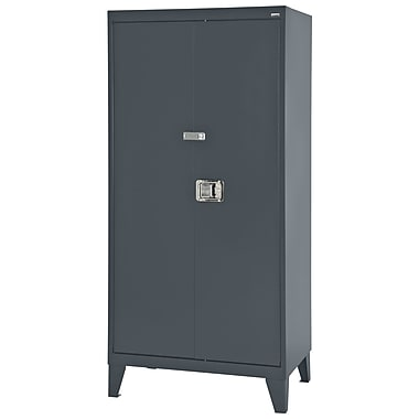 Sandusky® 36in. x 24in. x 79in. Extra Heavy Duty Storage Cabinet, Charcoal