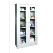 "Sandusky® See Thru 36"" x 24"" x 72"" Clearview Storage Cabinet, Dove Gray"