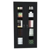 Sandusky® See Thru 36 x 18 x 78 Clearview Storage Cabinet, Black