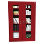 Sandusky® See Thru 46 x 18 x 72 Clearview Storage Cabinet, Red