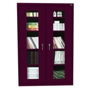 Sandusky® See Thru 46 x 24 x 78 Clearview Storage Cabinet, Burgundy