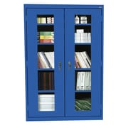 Sandusky® See Thru 46 x 24 x 78 Clearview Storage Cabinet, Blue