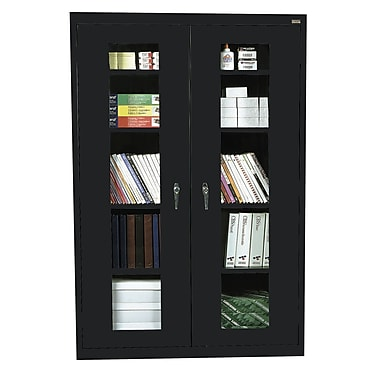 Sandusky® See Thru 46in. x 18in. x 72in. Clearview Storage Cabinet, Black