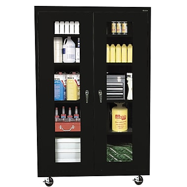 Sandusky® See Thru 46in. x 24in. x 78in. Transport Mobile Clearview Storage Cabinets