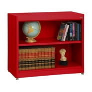 Sandusky® Elite 36in. x 18in. x 30in. Radius Edge Steel Stationary Bookcase, Red